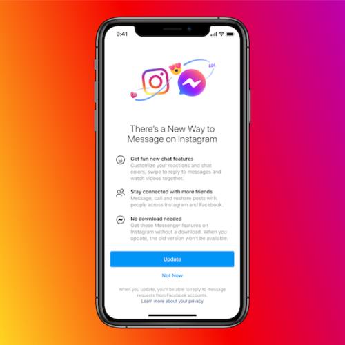Facebook Instagram クロスメッセージングプラットフォーム