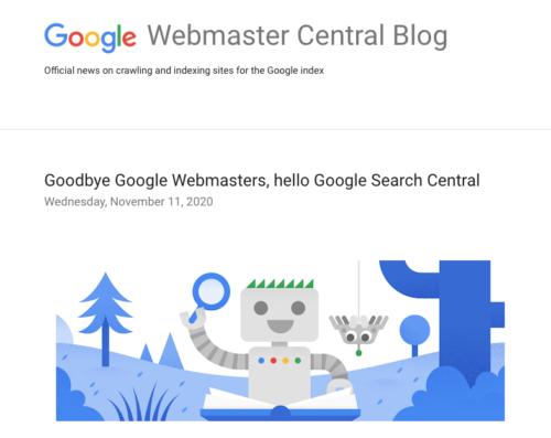 Google Webmaster公式ブログ タイトル画像